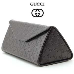 Gucci LOGO Collapsible Tri-Fold Glasses Hard Case